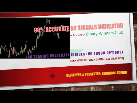 90% Accurate NT Signal Indicator No Touch Options For Trading Volatility Indices