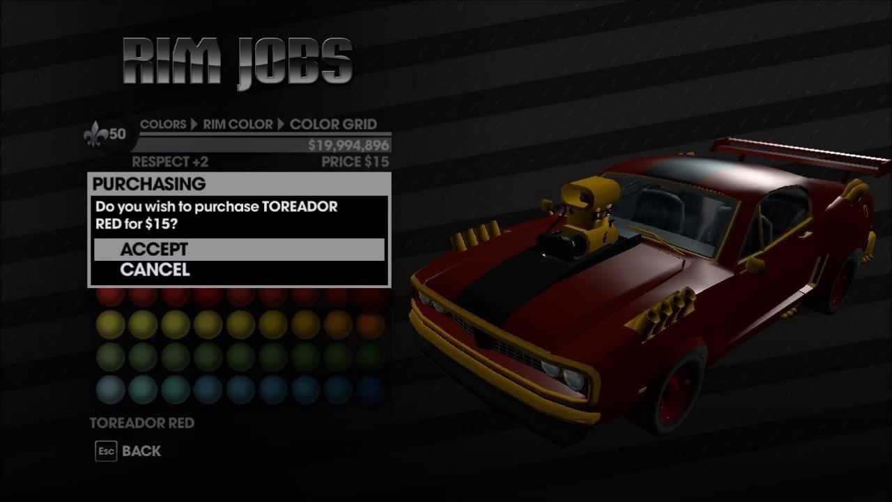 Saints row 3 customization best car u can mod