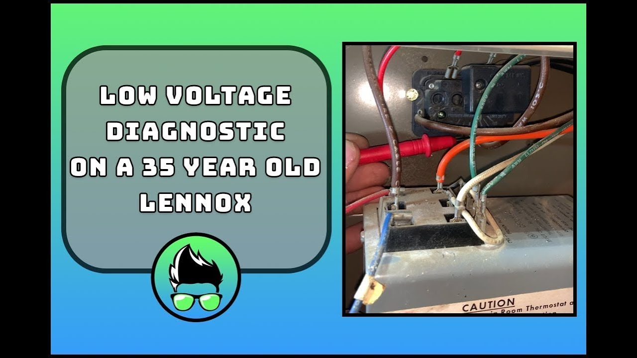 small resolution of low voltage troubleshooting an old lennox gas furnace youtube on electric furnace diagram lennox lennox furnace wiring
