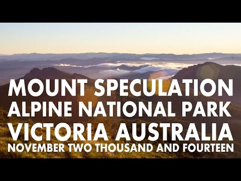 Mt Speculation - Alpine National Park - Victoria - Australia - November 2014
