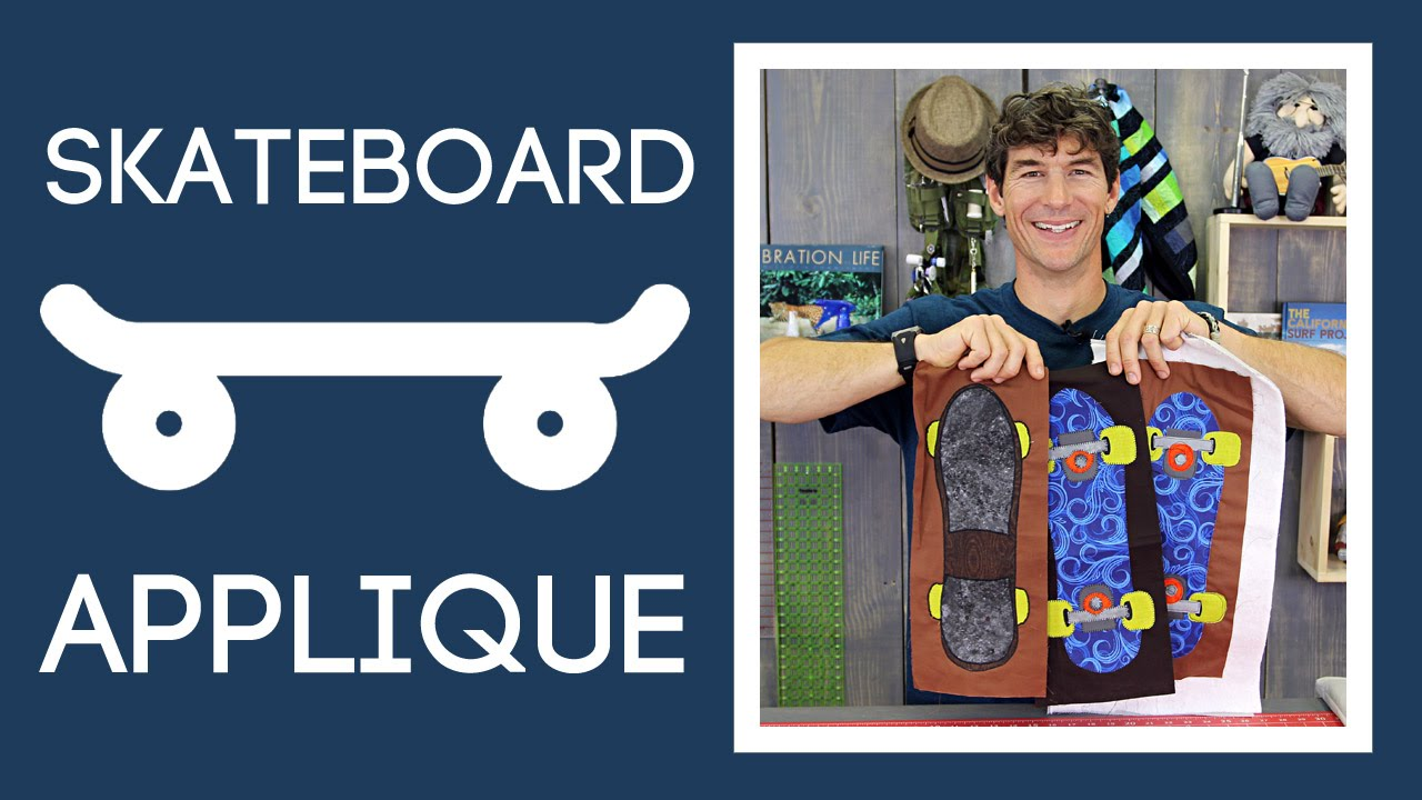 Skateboard Applique Quilting: Easy Appliqueing Tutorial with Rob ... : skateboard quilt - Adamdwight.com