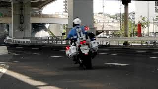 【POLICE】40㌔制限道路、空いているからとスピードを出し過ぎると…側道から現れるモンスター…!!! 白バイ隊アパッチスピード違反取締り