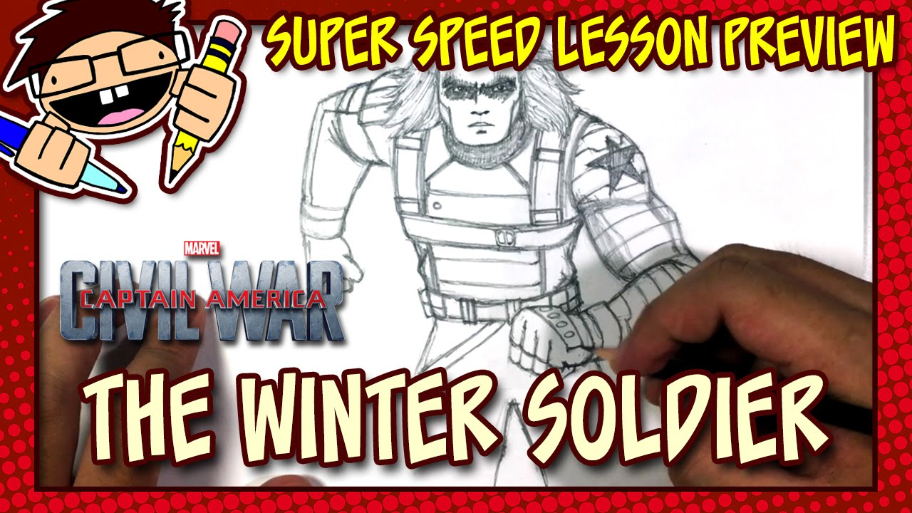 Lesson Preview How To Draw The Winter Soldier Captain America