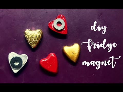 Quick and Easy valentine's day gift! Heart shaped fridge magnet!