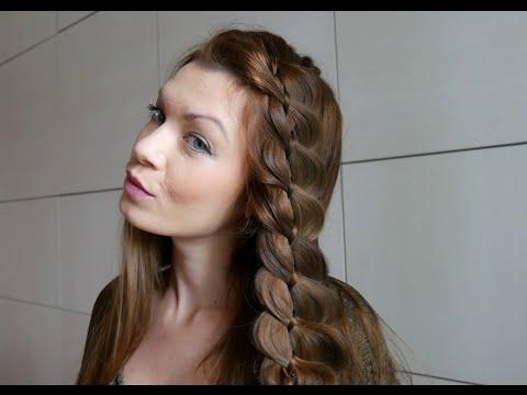 Французская коса из 4-х прядей, Красивая коса-ободок by AnaLisboa