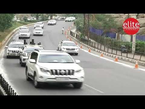 CM KCR Convoy | Telangana CM KCR Convoy at Telangana Bhavan