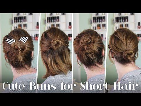 Frisuren für Kurze Haare // 5 Dutt Varianten für Kurze Haare