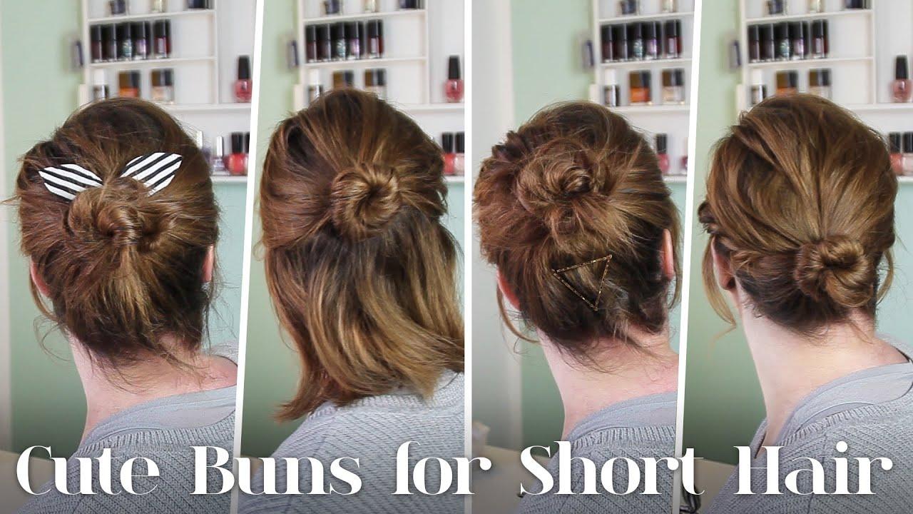 Frisuren Für Kurze Haare 5 Dutt Varianten Für Kurze Haare Youtube