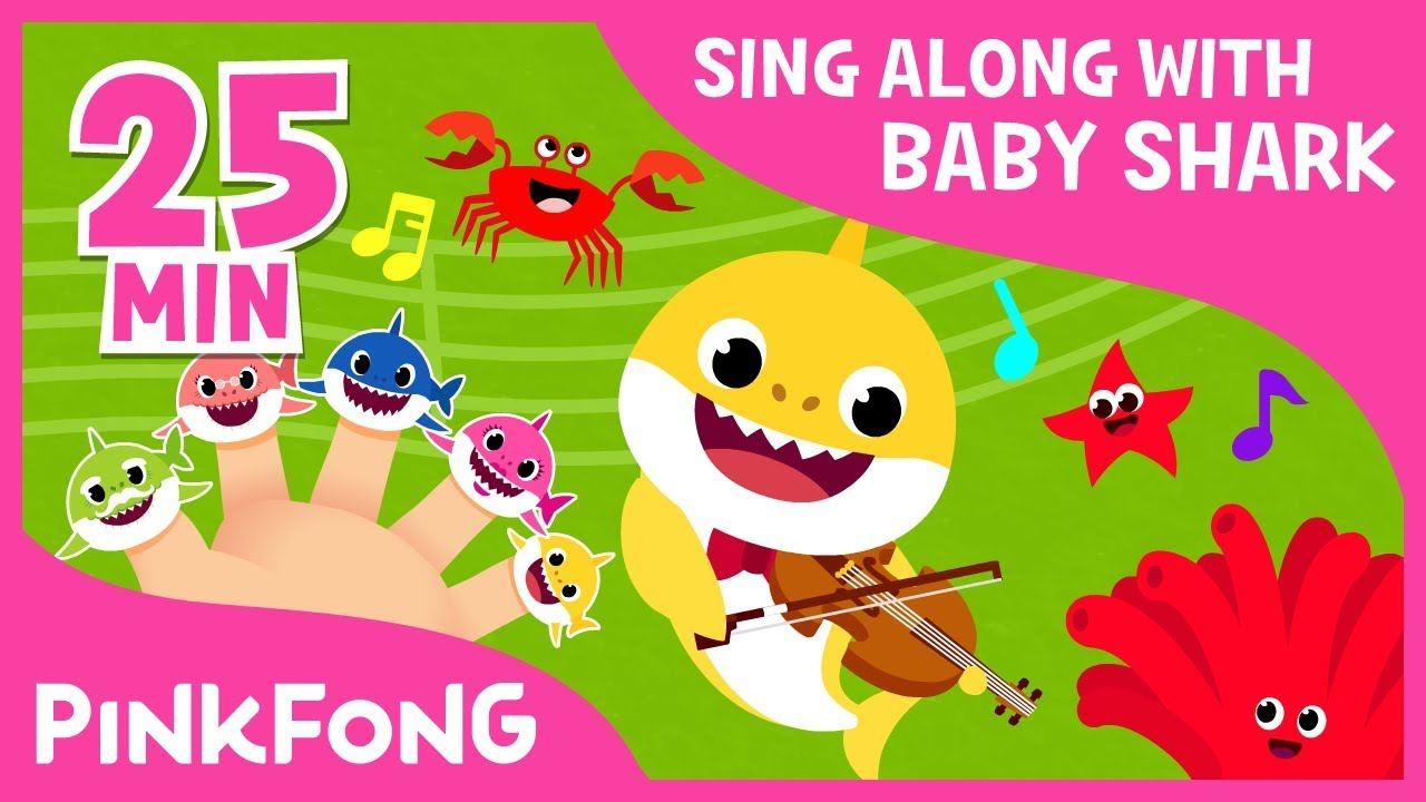 Shark Finger Family & more | Sing Along with Baby Shark | Compilation | Pinkfong Songs for Child