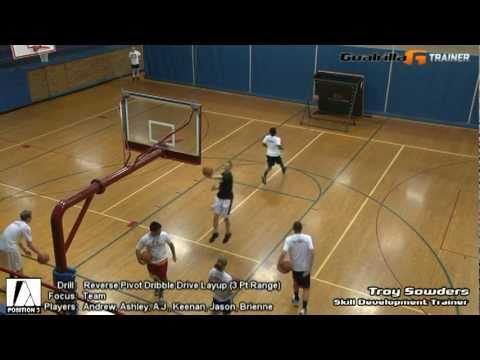 reverse pivot dribble drive layup drill team goalrilla