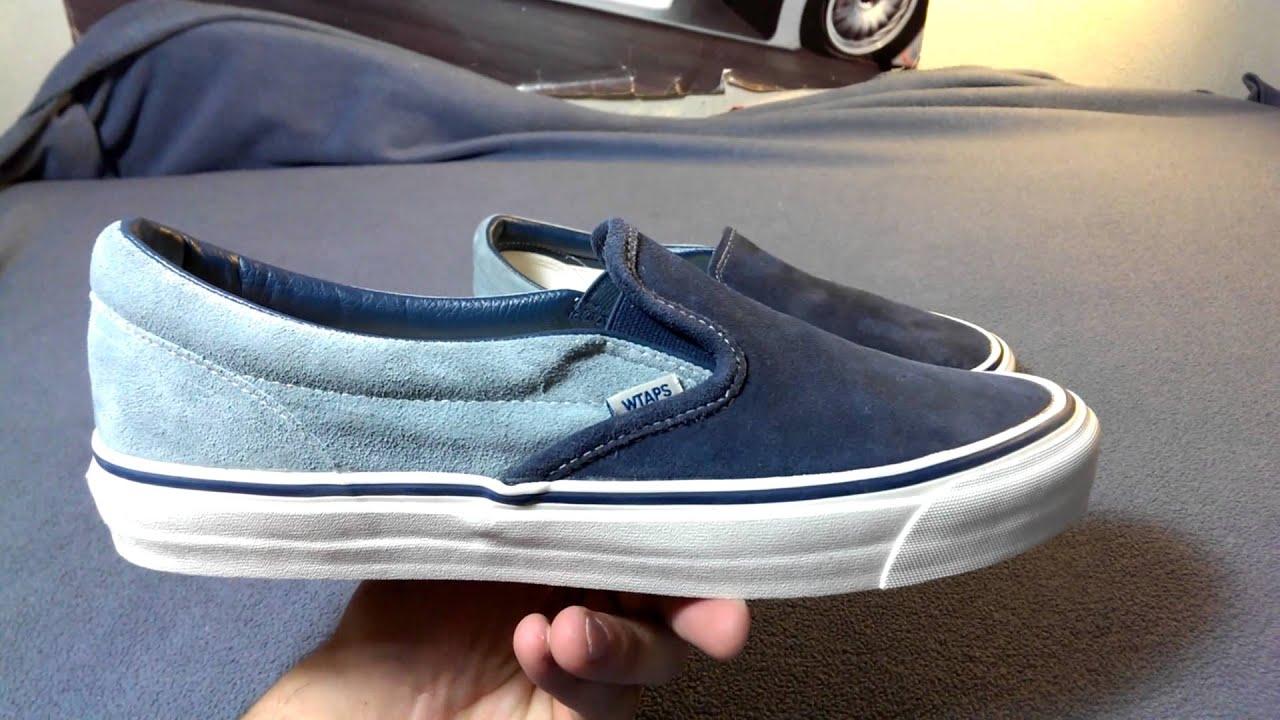 7c0270faa25 Shoe Review  Vans Vault Originals x WTAPS Classic Slip-On LX (Navy Light  Blue)