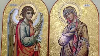 Иконы Благовещение в Иконостас в Царские Врата Обзор Готовых Икон в Монастырь Сумская Икона