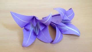 折り紙の花 アヤメ 簡単な折り方 Origami flower iris thumbnail
