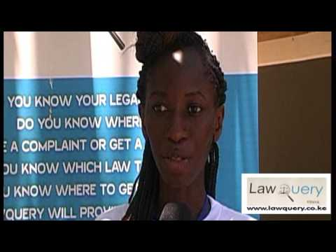 LawQuery CEO Eva Mola at the Legal Aid Clinic 2017