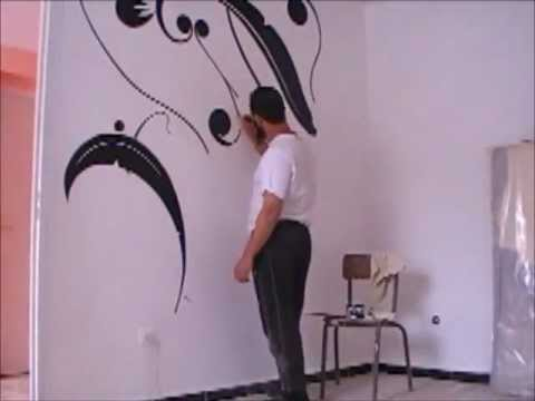 dessin et peinture sur le mur 3 youtube. Black Bedroom Furniture Sets. Home Design Ideas