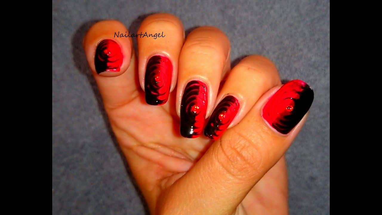nail art spirale, facile avec cure dent - YouTube