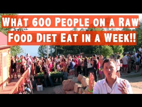 What 600 People On A Raw Food Diet Eat In A Week