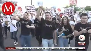 Tras balaceras, marchan por la paz en Culiacán