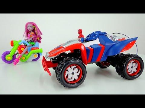 Видео для детей Монстр Хай и Человек Паук