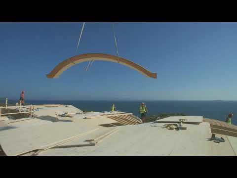 Handcrafted precision-engineered timber roof