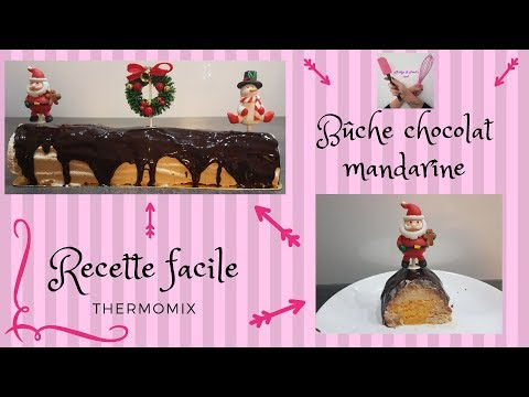 bÛche-chocolat-mandarine-recette-facile-thermomix-de-noël