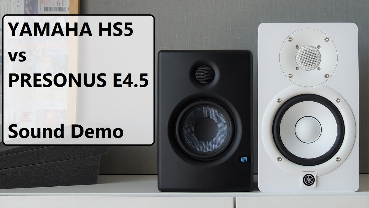 yamaha hs5 vs presonus eris e4 5 sound demo youtube