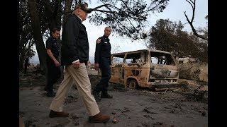 Trump tours what was left behind from fire-ravaged California