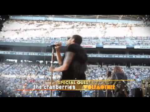 Lenny Kravitz, The Cranberries, Wolfmother Australian Tour March 2012 TVC