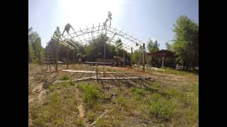 Time Lapse Diy Install Of A 30x20x10 Steel Truss Pole Barn From Armour Metals