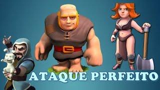 Ataque Perfeito.....Gigante..Magos...Valquiria......Clash of clans