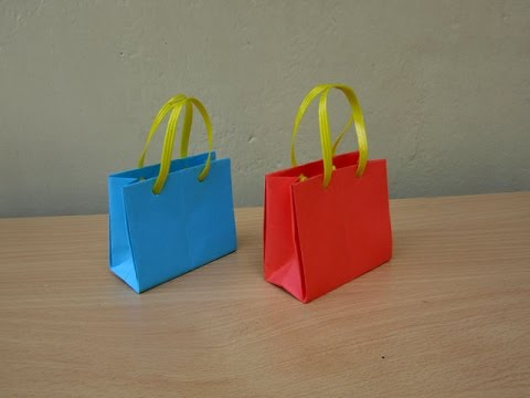 How to Make a Paper Bag for Gifts - Easy Tutorials - YouTube