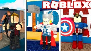 Roblox - BUILDING the AVENGERS TOWER #2!! -Roblox Avengers Tycoon 🎮
