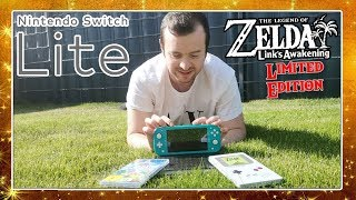 NINTENDO SWITCH LITE & THE LEGEND OF ZELDA LINKS AWAKENING LIMITED EDITION Unboxing in 4K