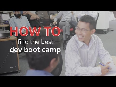 How to choose the best developer boot camp for you