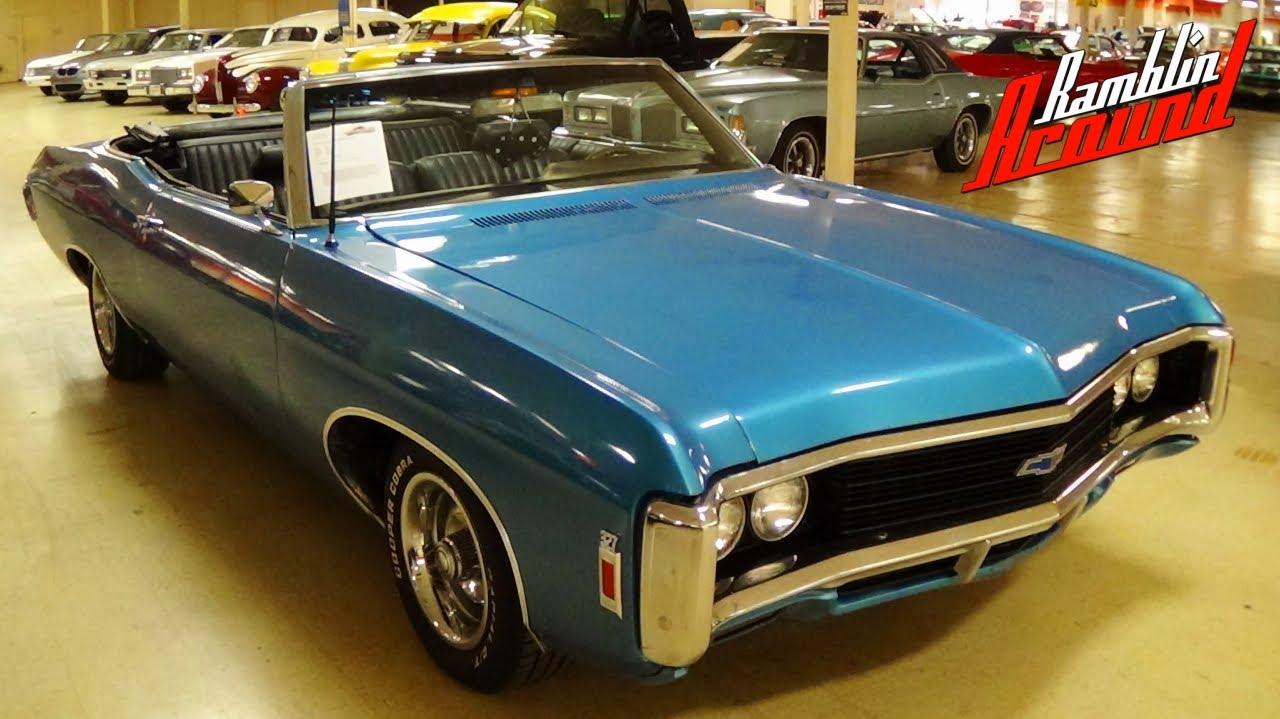 1969 Chevrolet Impala Convertible 327 V8 4 BBL
