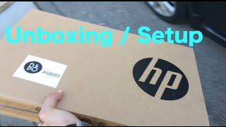 Unboxing / Setup Instructions for a new laptop [HP Pavilion Notebook 17]