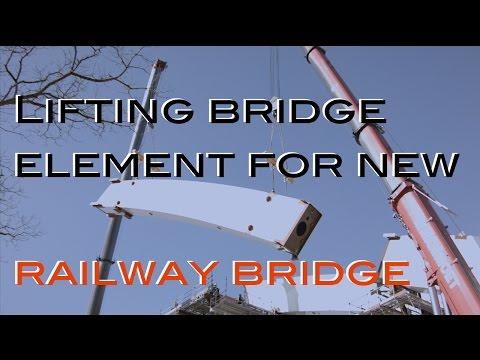 Heavy lifting bridge element for new railway bridge Zuidhorn
