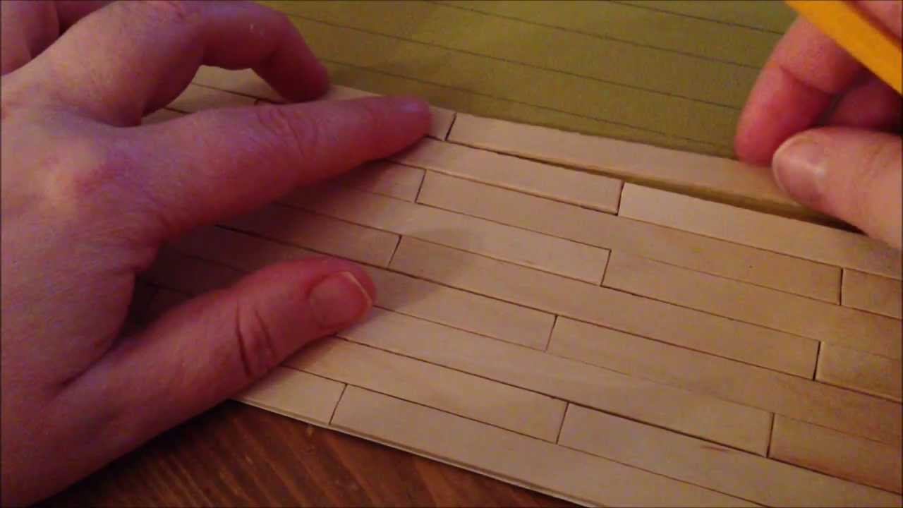 ~DIY: Make a dollhouse floor with popsicle sticks~ - YouTube