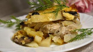 Картофельная Запеканка с Мясом очень вкусный рецепт