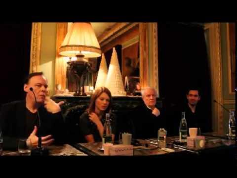Léa Seydoux and Vincent Cassel - press conference La Belle et la Bete