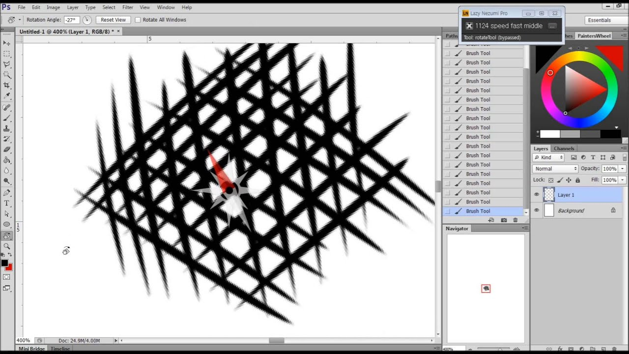 how to draw a line in photoshop cs6