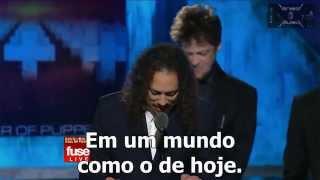 Discurso Kirk Hammett Metallica Rock and Roll Hall of Fame - Legendado Pt-br