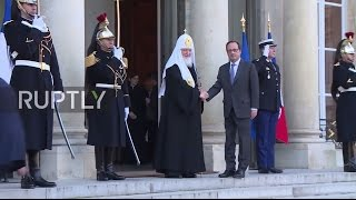 France  Hollande meets with Patriarch Kirill at the Elysee Palace