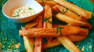 Crispy Golden Cassava (yuca, Manioc) Fries.