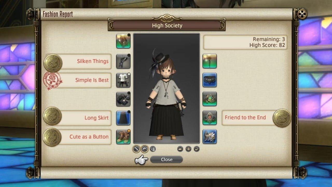 Final Fantasy XIV - Fashion Report - Week 1