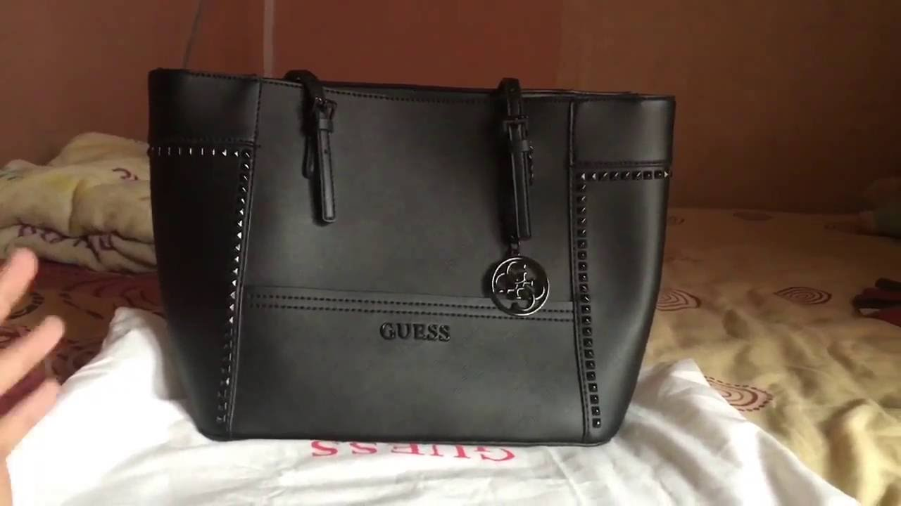 Review Guess Delaney Medium black studed - Bahasa Indonesia - YouTube 416fd64ab2
