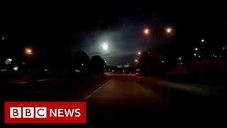 Fireball meteor lights up night sky over Malaysia - BBC News