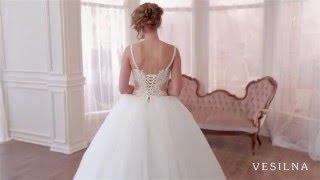 Пышное свадебное платье с прозрачным корсетом от VESILNA™ модель 3009