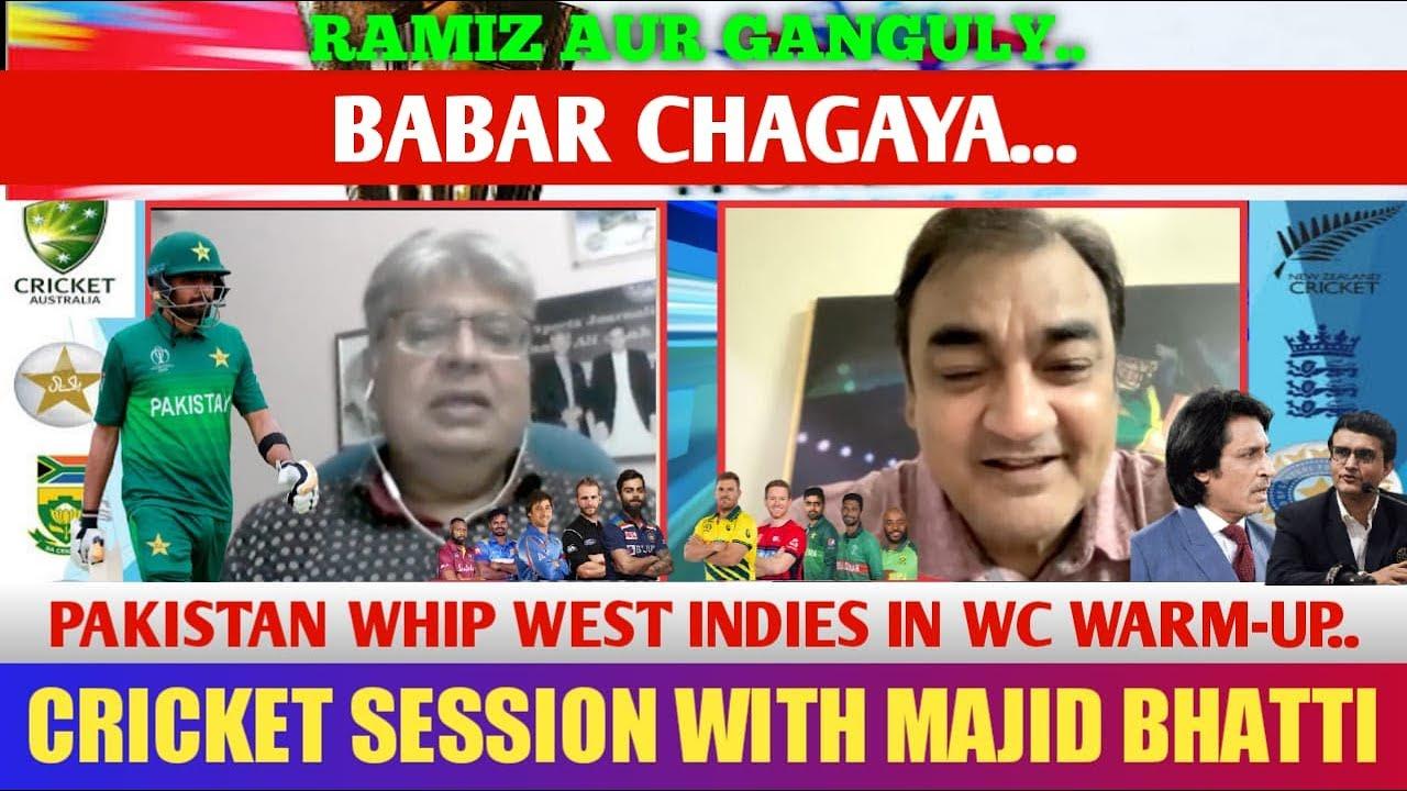 Download CRICKET SESSION WITH MAJID BHATTI..RAMIZ AUR GANGULY KYA HUWA...PAKISTAN WHIP WI..BABAR AZAM CHAGAYA