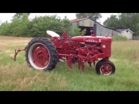 1953 Farmall Super C Tractor with 2-row Cultivator - YouTube